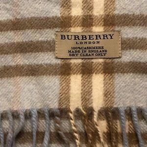 Burberry Accessories - Burberry Cashmere Scarf Winter Ski Plaid Pattern